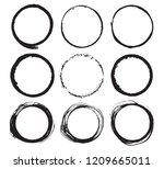 round frames  grunge textured... | Shutterstock .eps vector #1209665011