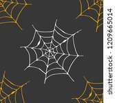 spider web seamless pattern... | Shutterstock .eps vector #1209665014