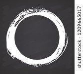 round frame  grunge textured... | Shutterstock .eps vector #1209665017