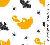 halloween seamless pattern.... | Shutterstock .eps vector #1209665107