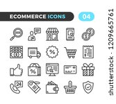 ecommerce line icons. outline... | Shutterstock .eps vector #1209665761