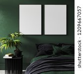 mock up poster in modern dark... | Shutterstock . vector #1209667057