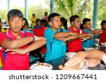 photo of thai students sitting... | Shutterstock . vector #1209667441
