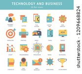 business and marketing ... | Shutterstock .eps vector #1209668824