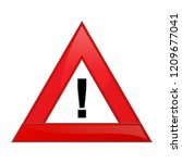 triangle exclamation icon ... | Shutterstock .eps vector #1209677041