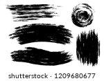 vector set of hand drawn brush... | Shutterstock .eps vector #1209680677