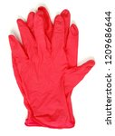 red gloves on white background  ... | Shutterstock . vector #1209686644