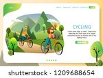 cycling landing page website... | Shutterstock .eps vector #1209688654