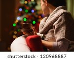 Young Woman Sitting Chair With...