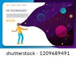 vr technology landing page... | Shutterstock .eps vector #1209689491