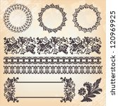 set of ornate page decor... | Shutterstock .eps vector #120969925
