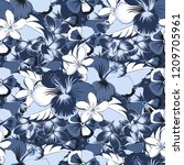 vector seamless pattern with... | Shutterstock .eps vector #1209705961