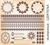 set of vintage floral pattern... | Shutterstock . vector #120970765
