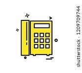 telephone icon design vector | Shutterstock .eps vector #1209709744