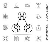 communication of personnel icon.... | Shutterstock . vector #1209713824