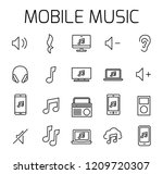 mobile music related vector...