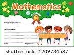 a mathematics diploma... | Shutterstock .eps vector #1209734587