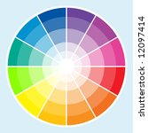 classic color wheel with the... | Shutterstock . vector #12097414