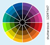classic color wheel with colors ... | Shutterstock . vector #12097447