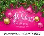 holidays greeting card for... | Shutterstock .eps vector #1209751567