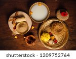 all natural and ayurvedic... | Shutterstock . vector #1209752764
