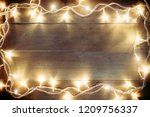 wood vintage bord decorate with ... | Shutterstock . vector #1209756337