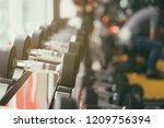 fitness sport club gym concept. ... | Shutterstock . vector #1209756394