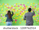 business colleagues discussing... | Shutterstock . vector #1209762514