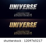 elegant silver and golden... | Shutterstock .eps vector #1209765217
