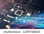 3d rendering futuristic blue... | Shutterstock . vector #1209768601
