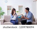 happy family celebrating... | Shutterstock . vector #1209780094