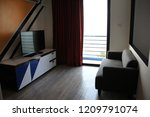 a modern hotel is now available ... | Shutterstock . vector #1209791074
