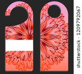 hanger badge.vector... | Shutterstock .eps vector #1209792067