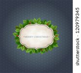 christmas vintage background... | Shutterstock .eps vector #120979345