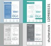 simple classy cv resume... | Shutterstock .eps vector #1209800131