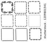 set of vector vintage frames on ... | Shutterstock .eps vector #1209801541