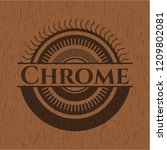 chrome wood icon or emblem   Shutterstock .eps vector #1209802081