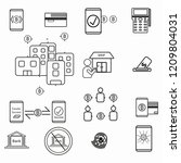 cashless society icon vector... | Shutterstock .eps vector #1209804031