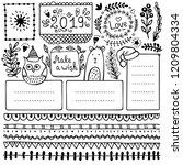 bullet journal hand drawn... | Shutterstock .eps vector #1209804334