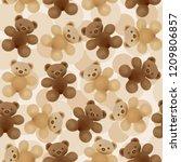 children's vector seamless... | Shutterstock .eps vector #1209806857