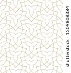 pattern with thin curl lines... | Shutterstock .eps vector #1209808384