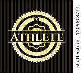 athlete golden emblem or badge   Shutterstock .eps vector #1209808711