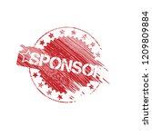 grunge sponsor stamp | Shutterstock .eps vector #1209809884