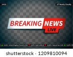breaking news screen saver on... | Shutterstock .eps vector #1209810094