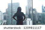 young successful woman admires...   Shutterstock . vector #1209811117