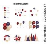 infographic elements  timeline... | Shutterstock .eps vector #1209820357
