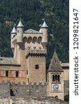 medieval castle of saint pierre ... | Shutterstock . vector #1209821647