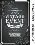 black and white ornate vintage... | Shutterstock .eps vector #1209829591