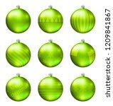 light green christmas balls... | Shutterstock .eps vector #1209841867