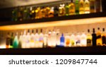 various alcohol bottles and... | Shutterstock . vector #1209847744